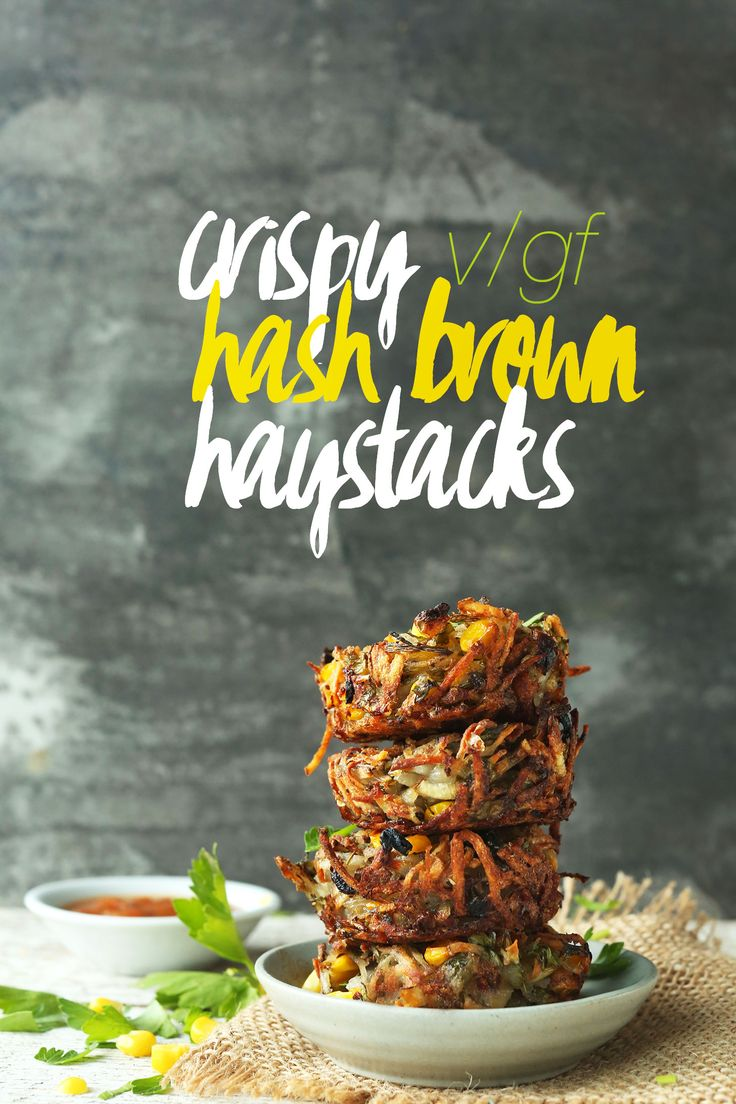 7 Ingredient CRISPY HASH BROWN Haystacks with corn, parsley and shallot. Crispy, savory, SO perfect for breakfast or brunch! by Minimalist Baker
