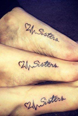 Tatouage pied pour soeurs