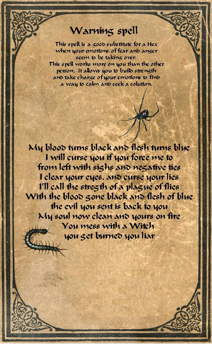 A Warning Spell-if this does not go against your personal path.
