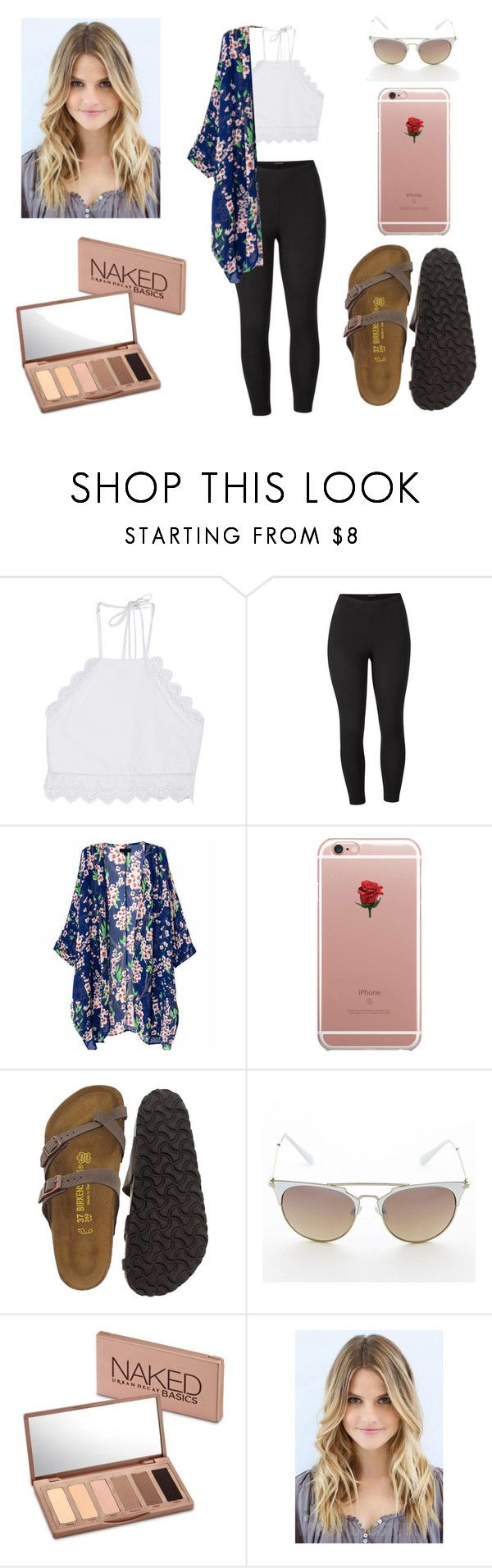 """""""Summer"""" by gracemartin-ii ❤ liked on Polyvore featuring Front Row Shop, Venus, ETUÍ, Birkenstock, Urban Decay and plus size clothing"""