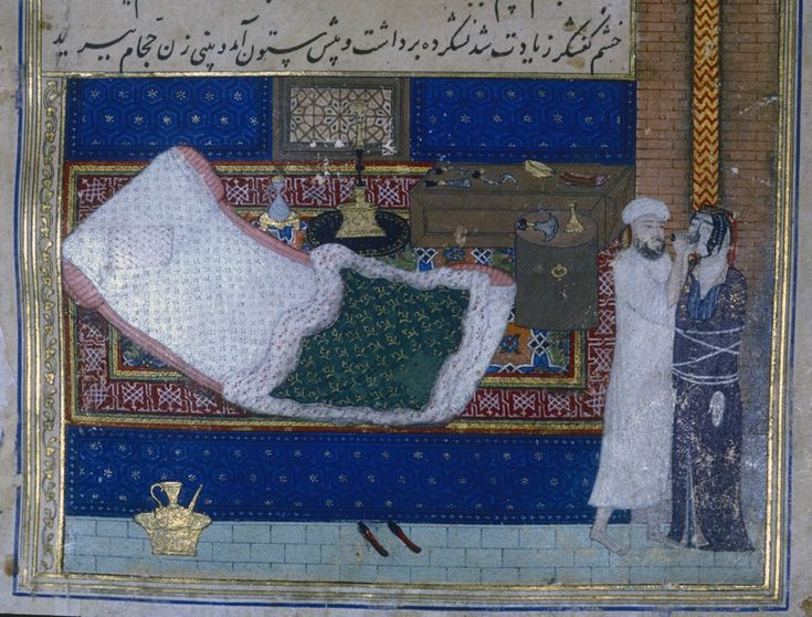 KALILA WA DEMNA in Persian Figure 2. The cobbler cuts off the nose of the barber's wife. Naṣr-Allāh, Kalila o Demna. Ink, colors, and gold on paper. Jalayerid, ca. 1375–85. Istanbul, Topkapi Saray Library, MS pers. H. 362, fol. 36b. After O'Kane, 2003, pl. 28. – Encyclopaedia Iranica
