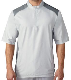 Cortavientos de golf Adidas Club, manga corta. Fabricado con Polyester en un 100%. Cortavientos Adidas para los días de viento y lluvia, perfecta para llevar al campo de golf.