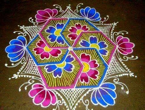 Flower Rangoli.......