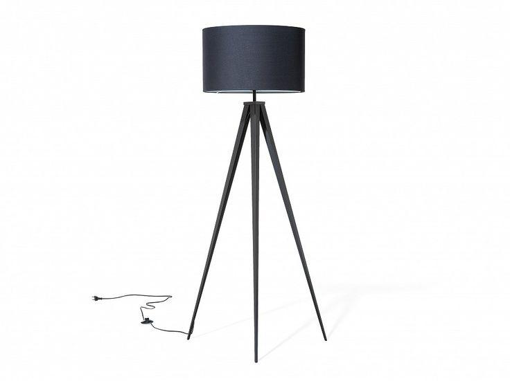 Lampa stojąca czarna - podłogowa - oświetlenie - STILETTO_673831