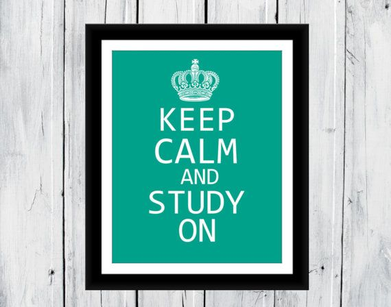 Keep Calm and Study On Dorm Decor #CampusLiving #College