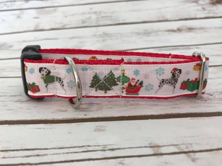 Dalmatian DALLY Dalmation Spot Spotty Dog Themed Dogs **Christmas** Xmas Festive Dog Puppy Collar *Any Collar Fastening* Any Width by DottiesPetBoutique on Etsy