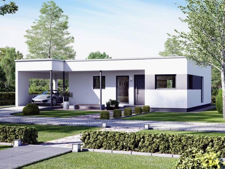 Bauhaus Bungalow modern mit Flachdach Architektur