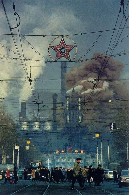 An industrial town in Russia, 1970s