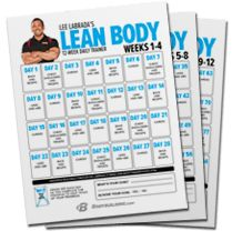Lee Labrada's 12-Week Lean Body Trainer - Bodybuilding.com