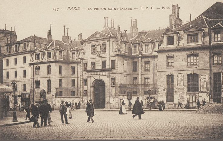 rue du Faubourg-Saint-Denis - Paris 10e - Autre vue de la prison Saint-Lazare, rue du Faubourg-Saint-Denis, vers 1905.