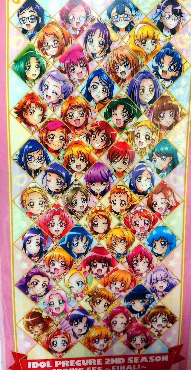 All the Pretty Cure teams from HUGtto! Pretty Cure♡Futari