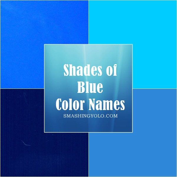 20 different  shades of  blue  color names
