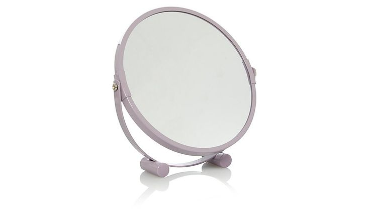 Round Heather Metal Mirror, read reviews and buy online at George at ASDA. Shop from our latest range in Home & Garden. Stylish and compact, this lilac round...