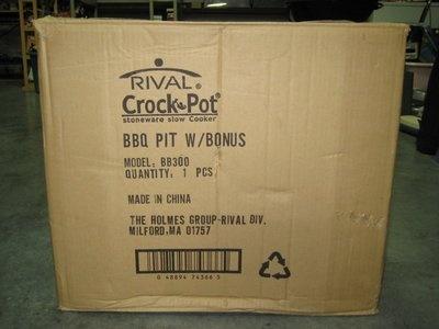 Rival Crock Pot BBQ Pit $40