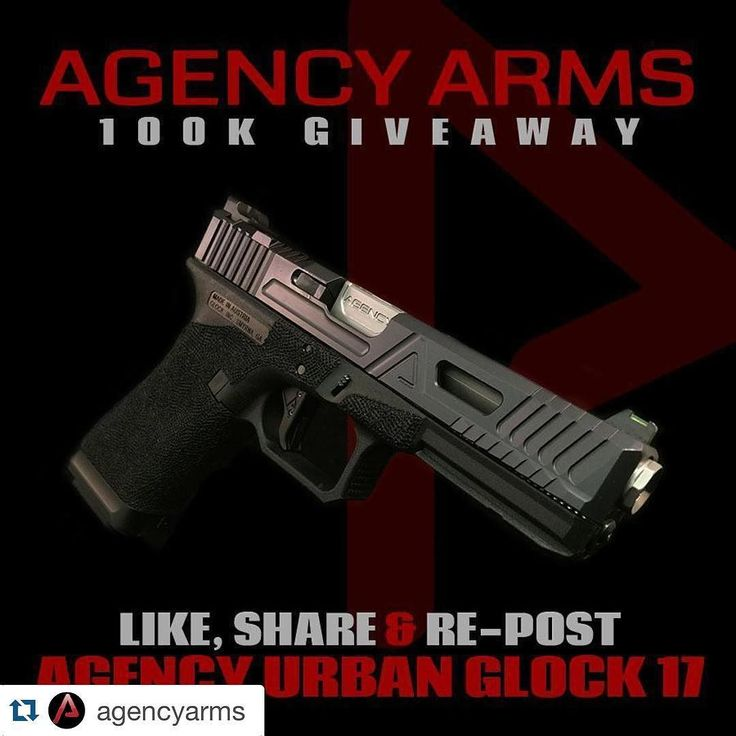 #Repost @agencyarms with @repostapp.  FOR THE LATE NIGHT FOLKS... #Repost @agencyarms  LADIES AND GENTLEMEN... It is TIME!!! Agency Arms is closely honing in 100000 followers. To say thank you to the loyal fans followers and Agents we're giving away this Agency Arms Glock 17 in Black Nitride with an Agency Arms Barrel and Low Profile Agency Arms Magwell. LIKE SHARE & REPOST - HASHTAG #AA100KGAW #agencyarms #welcometothebrotherhood #glock17 #100KGAW #thankyou #thegunindustry #pewpewpew #g17…