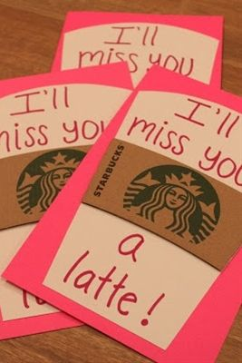 """Cute idea... can even be used in the beginning of the school year. """"I'm looking forward to a latte fun this year.""""   End of the year teacher gift w/Starbucks gift card (or for an old teacher just to remind them how much they meant to you!!!)  #backtoschool"""