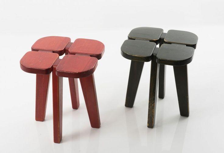 """Apila"" stools designed by Lisa Johansson-Pape."