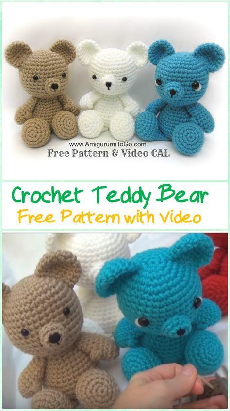 25+ best Crochet teddy bears ideas on Pinterest Crochet teddy, Bear toy and...