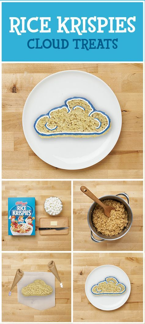 3 Steps to a Treat! Looking for inside activities during this icky weather? Making Rice Krispies Treats is a family activity that's as easy as Snap, Crackle, Pop! All it takes are three simple ingredients and your own creativity to craft these delicious snacks! Use them to weather any weather!