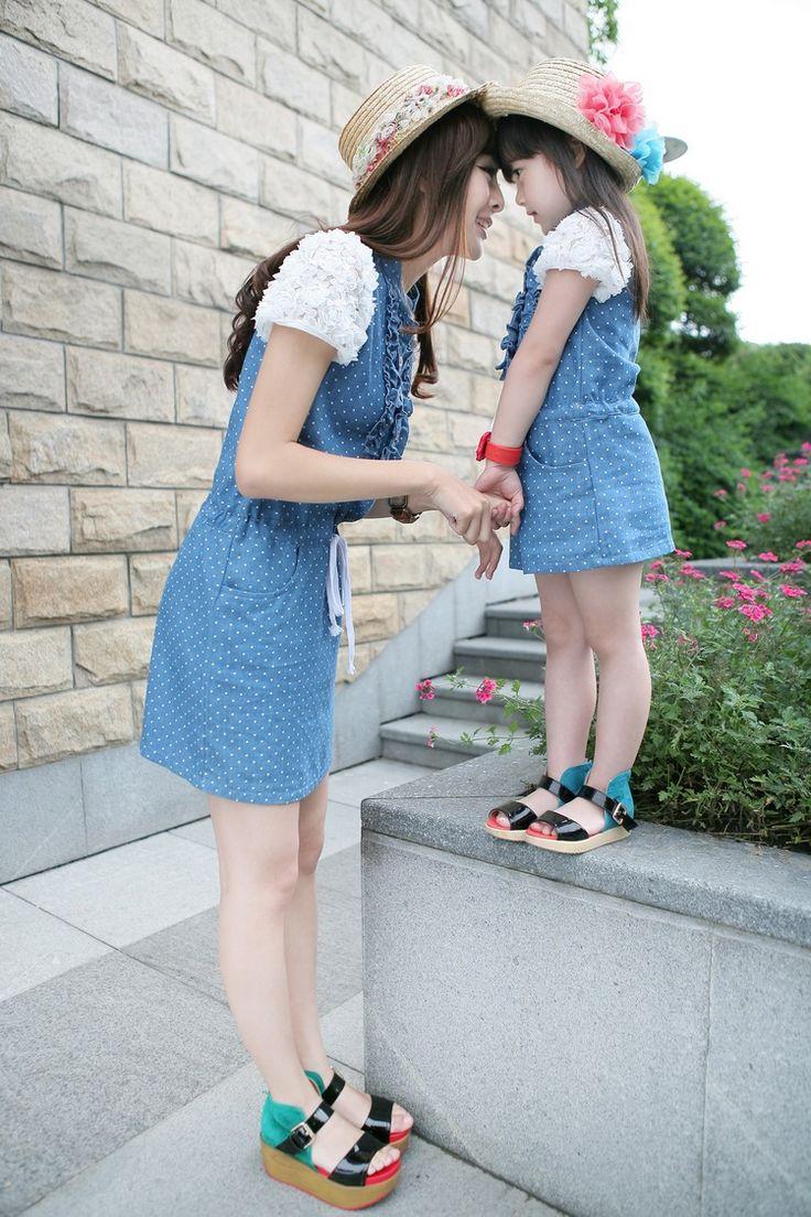 moda vestido verano papa madre e hija