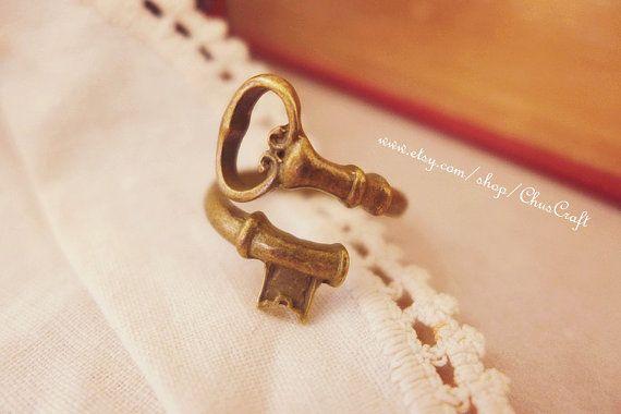 Skeleton Key Ring Skeleton Key Jewelry Antique Bronze Brass ...