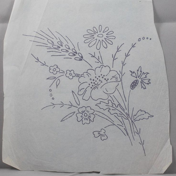 Flower Bouquet - Vintage Iron-on Transfer by TheVintageSewingB on Etsy