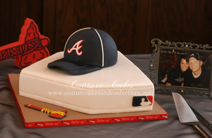 Atlanta Braves Baseball fan Groom's cake... - forget about it being a groom's cake this is awesome!!