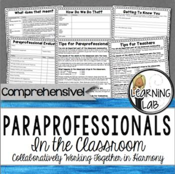 Special Education wouldn't be what it is today without our paraprofessionals.  Getting a group of adults to work together can be a challenge but once everybody is on the same page, it can be very productive and rewarding.  The purpose of this product is to help jumpstart some team cohesiveness.