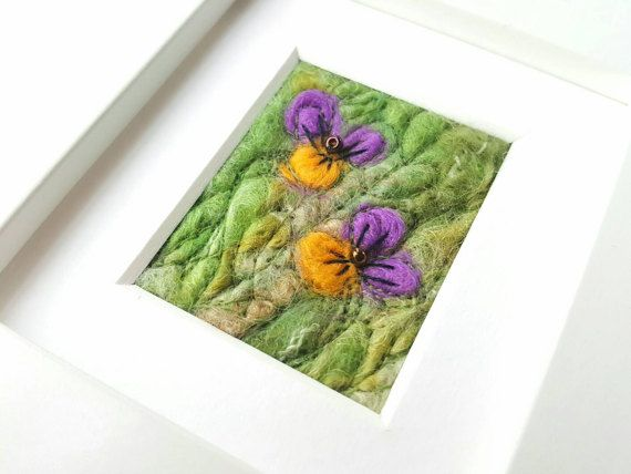 Check out this item in my Etsy shop https://www.etsy.com/uk/listing/500244514/felted-pansies-original-fiber-art