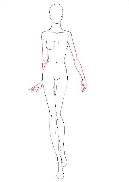 how to draw walking pose step 11 fashion illustration pinterest