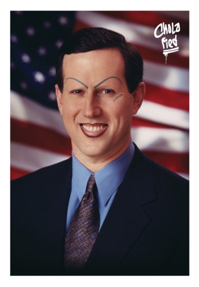 "Santorum cholafied; chola name given him by this blog (click through) is ""Google Translate Puta."""