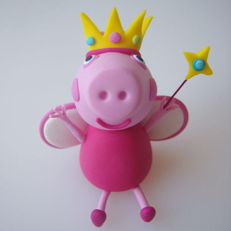 Fairy Peppa Pig Cake Topper