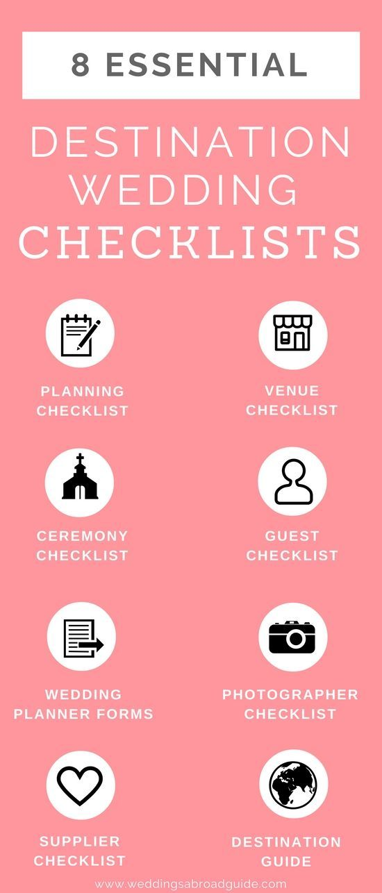My destination wedding planning tools kit contains Eight Free Checklists! Download your essential wedding abroad checklists now! http://www.weddingsabroadguide.com/destination-wedding-planning-tools.html
