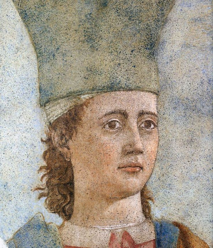 ❤ - PIERO DELLA FRANCESCA - (1415 - 1492) - Exaltation of Cross (detail). Fresco. Basilica di San Francesco, Arezzo,Italy.