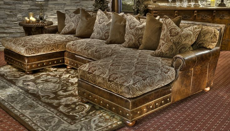 Paisley Pastures Double Chaise Sofa In This Beautiful