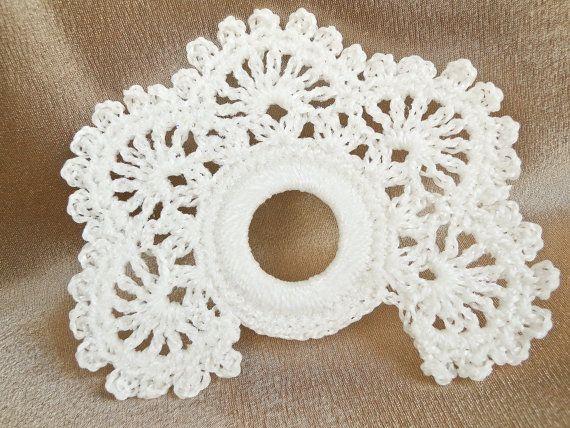 4 PCS White Crochet Napkin Rings Table by SandyCraftUK on Etsy