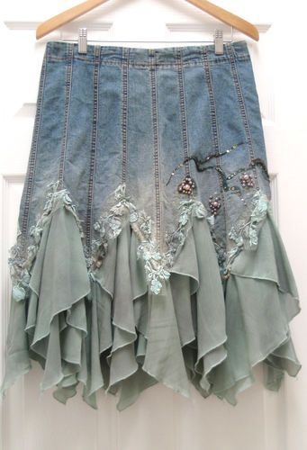 altered couture skirts | Altered Couture Womens Denim Skirt Vintage - Inspiration only!