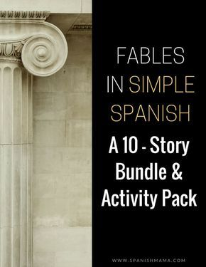 A discounted bundle for reading and listening activities in Spanish, based on fables retold in Novice-level language.