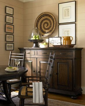 Paula Deen The Hostess Credenza in Molasses - traditional - media storage - Furnitureland South