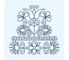 Výšivka Vajnory, 10x10 cm