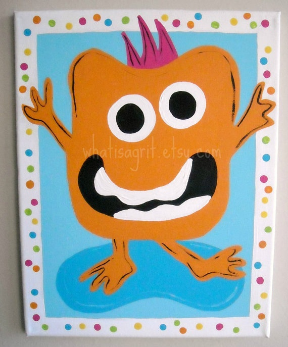 monster ideas for canvases in boys' room