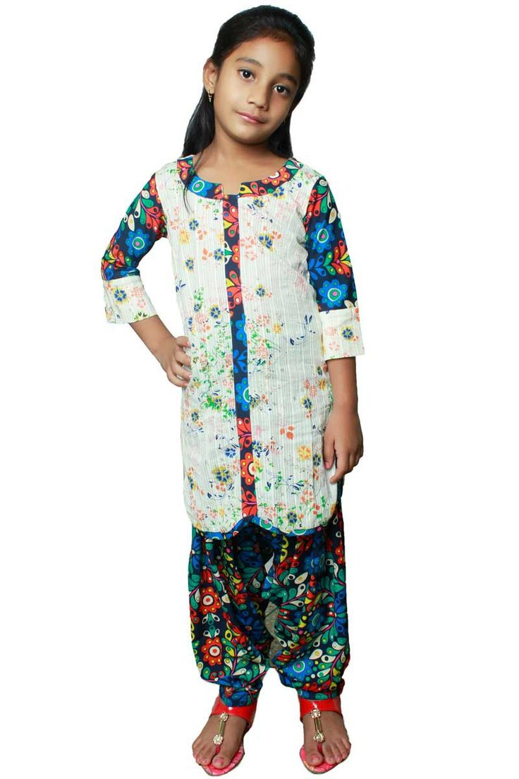 Yellow Cotton #CasualPrinted Kids #SalwarKameez Sku Code: 447-6283KSL122073 US $30.00 http://www.sareez.com/beige-yellow-cotton-casual-printed-kids-salwar-kameez-79609.html
