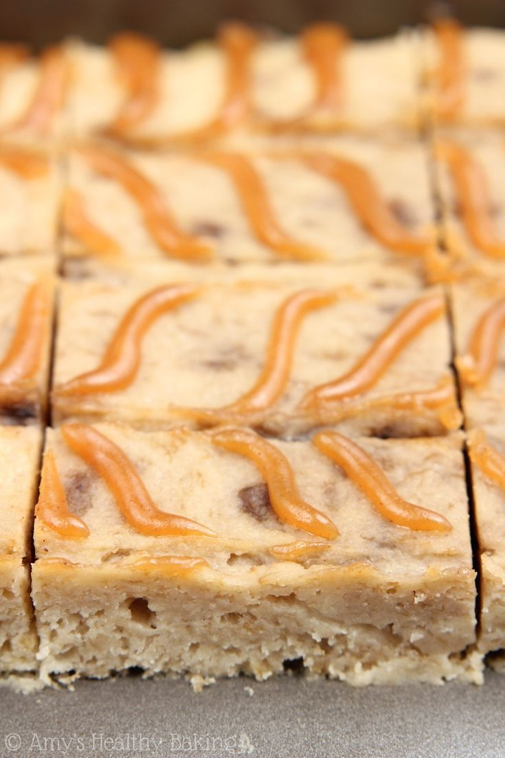 Peanut Butter Banana Bread Brownies -- SO addictive. Our new favorite treat! Sweet, clean-eating & only 80 calories each!