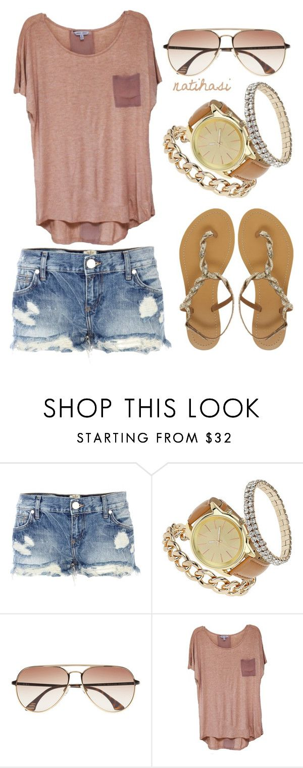 """""""Cool Breeze Summer Outfit"""" by natihasi ❤ liked on Polyvore featuring River Island, Miss Selfridge, KBL Eyewear, ASOS, women's clothing, women, female, woman, misses and juniors"""