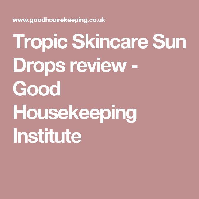 Tropic Skincare Sun Drops review - Good Housekeeping Institute