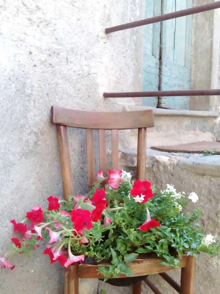seduta fiorita...