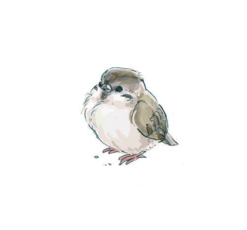 art, bird, cute, drawing, illustration