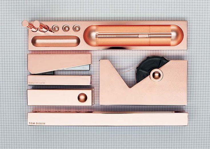 Tom Dixon Stationary Rose Gold Amp Copper♡ Desk