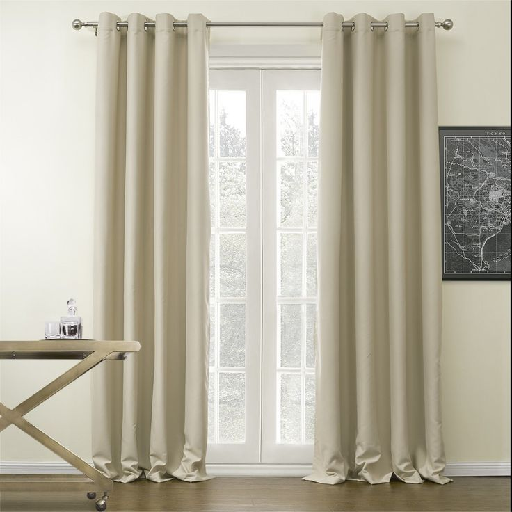 Solid Beige Classic Blackout Curtain   #curtains #decor #homedecor #homeinterior #beige