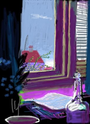 David Hockney ( iPad painting )